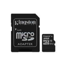 32 GB Kingston MicroSDHC kártya class 10 + SD adapter